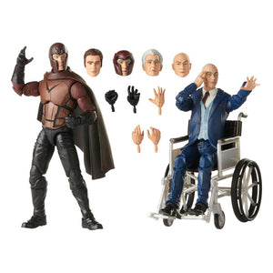 MARVEL LEGENDS X-MEN MAGNETO & PROFESSOR X 15CM ACTION FIGURE 2 PACK
