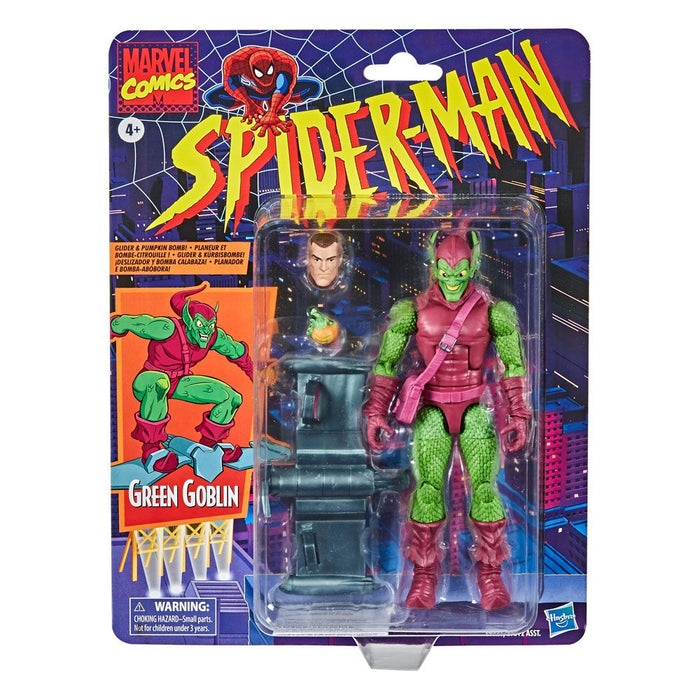 "MARVEL LEGENDS RETRO COLLECTION SPIDER-MAN GREEN GOBLIN 6"" ACTION FIGURE"