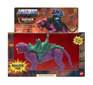 "MASTERS OF THE UNIVERSE ORIGINS FLOCKED PANTHOR COLLECTORS EDITION ""PRE-ORDER SEP 2021 APPROX"""