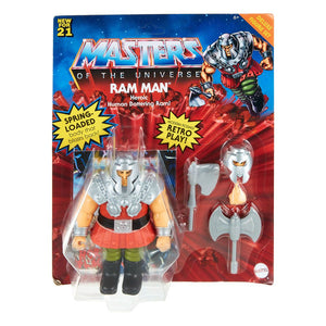 "MASTERS OF THE UNIVERSE ORIGINS RAM-MAN DELUXE 14CM ACTION FIGURE ""PRE-ORDER AUG 2021 APPROX"""