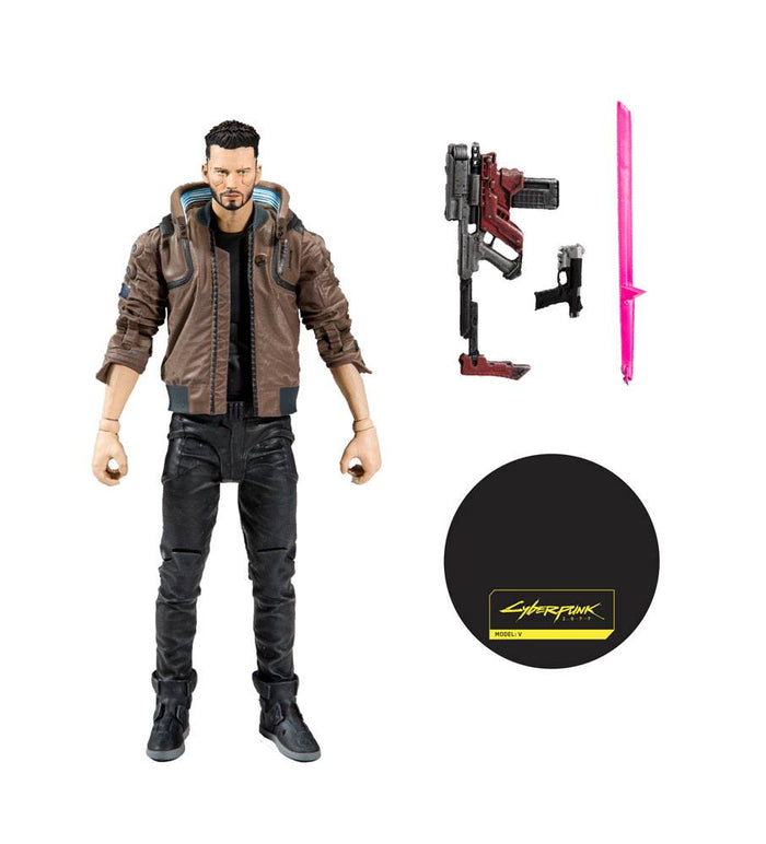 CYBERPUNK 2077 MALE V 18CM ACTION FIGURE