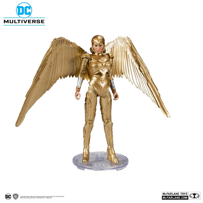 DC MULTIVERSE WONDER WOMAN 1984 GOLDEN ARMOR 18CM ACTION FIGURE