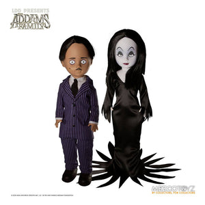 "LIVING DEAD DOLLS PRESENTS THE ADDAMS FAMILY GOMEZ AND MORTICIA ""PRE-ORDER SEP 2021 APPROX"""