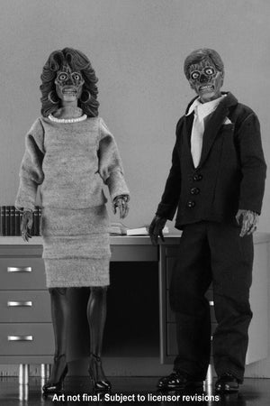"THEY LIVE ALIENS 8"" RETRO ACTION FIGURE 2 PACK ""PRE ORDER FEB 2019"""
