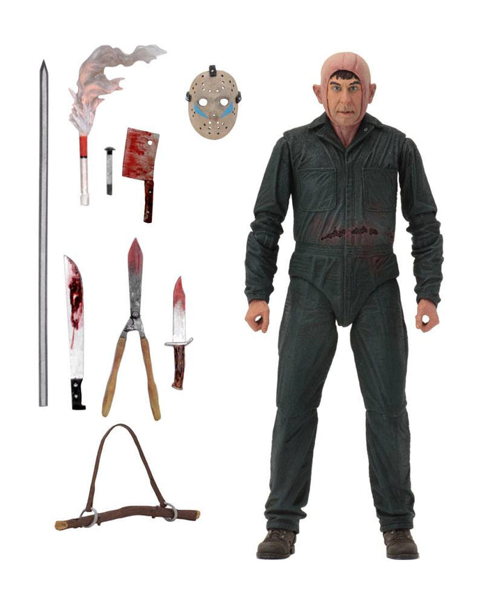 FRIDAY THE 13TH PART 5, A NEW BEGINNING ROY BURNS ULTIMATE ACTION FIGURE