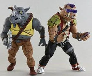 TEENAGE MUTANT NINJA TURTLES ROCKSTEADY AND BEBOP ACTION FIGURE 2 PACK