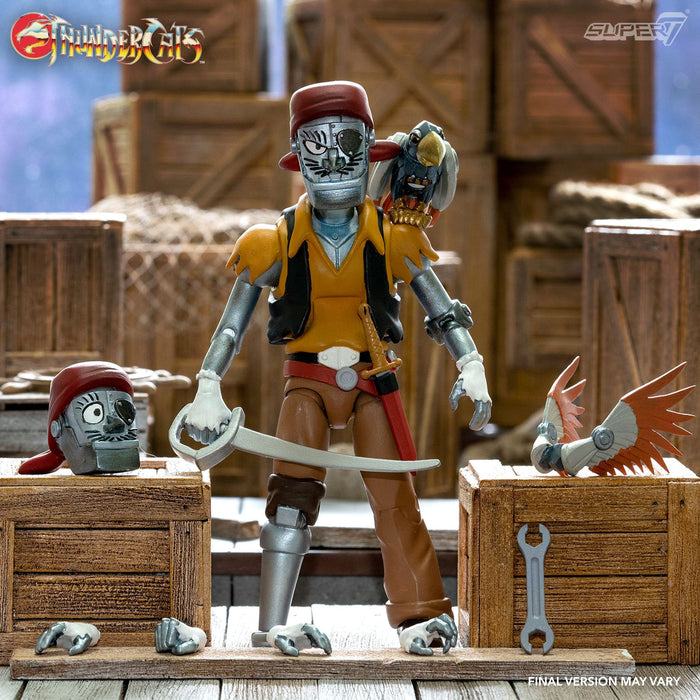 "THUNDERCATS ULTIMATES WAVE 3 CAPTAIN CRACKER THE ROBOTIC PIRATE SCOUNDREL 18CM ACTION FIGURE ""PRE-ORDER Q3 2021 APPROX"""