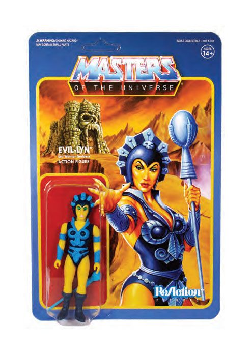 MASTERS OF THE UNIVERSE EVIL LYN REACTION ACTION FIGURE