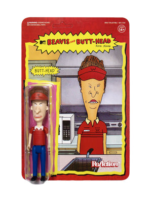 "BEAVIS & BUTTHEAD SET OF 5 REACTION 3.75"" ACTION FIGURES (BURGER WORLD AND CORNHOLIO)"