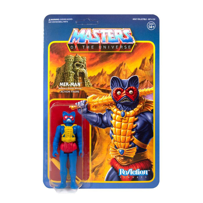 MASTERS OF THE UNIVERSE MER-MAN CARRY CASE COLOR REACTION ACTION FIGURE