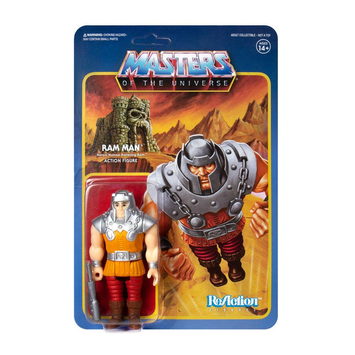 MASTERS OF THE UNIVERSE RAM MAN MINI COMIC COLOR REACTION ACTION FIGURE
