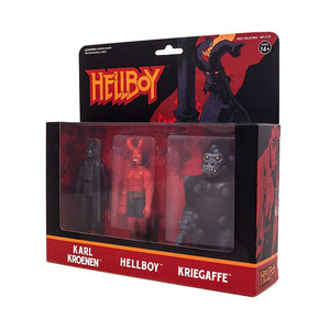HELLBOY REACTION 3 PACK HELLBOY, KARL KROENEN AND KRIEGAFFE APE ACTION FIGURES