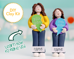 Little Sister & Big Sister dual kit Ornament/Figurine