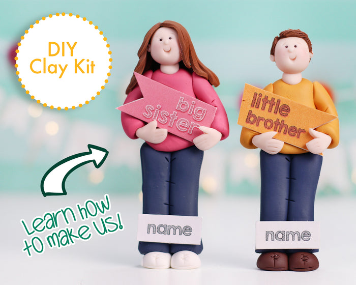 Little Brother & Big Sister dual kit Ornament/Figurine