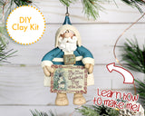 DIY Vintage Santa Claus ornament 2017