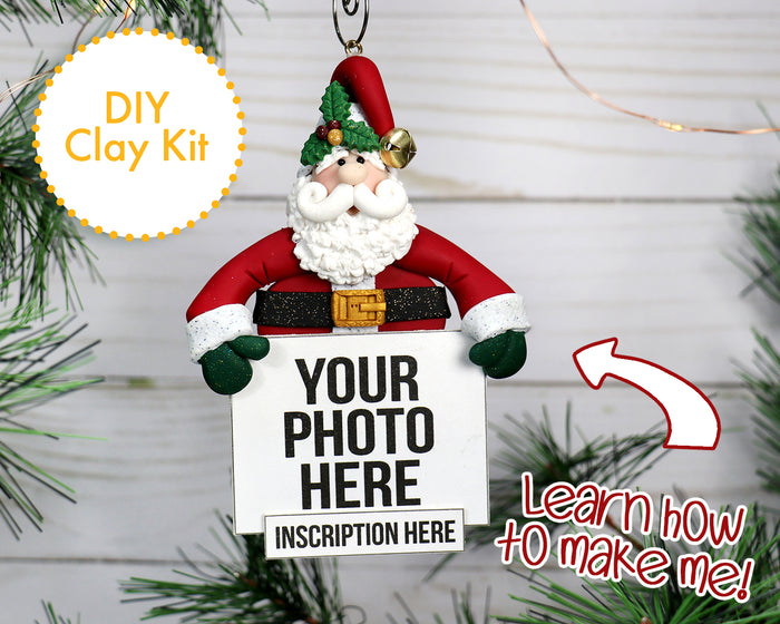 DIY Santa bust ornament with custom photo