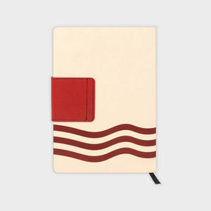 A5 Soft Cover Journal Sketchbook with Red Artwork