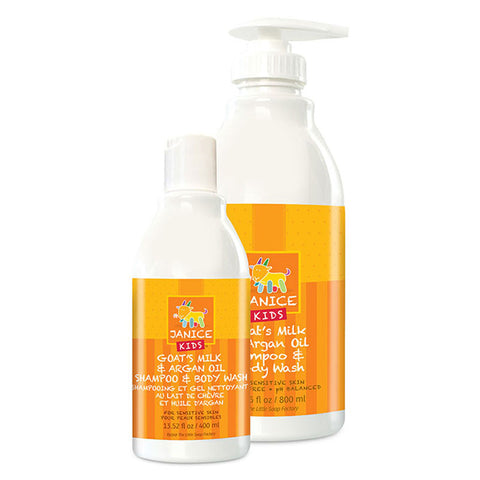 large and small size janice kids body wash bottles