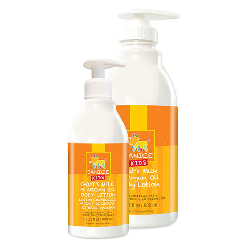 large and small size janice kids body lotion bottles