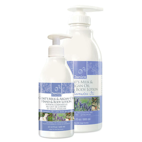 Goat's Milk, Argan & Cranberry Seed Oil Hand & Body Lotion - Lavender Fragrance