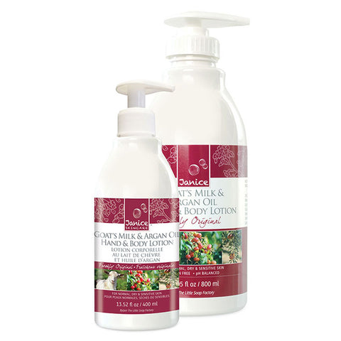 Goat's Milk, Argan & Cranberry Seed Oil Hand & Body Lotion - Freshly Original Fragrance