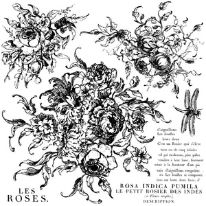 Iron Orchid Designs Rose Toile 12x12 Decor Stamp™