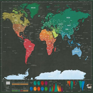 Deluxe Scratch-Off World Map (Travel Tracker)
