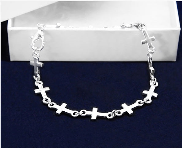 Linked Crosses Bracelet