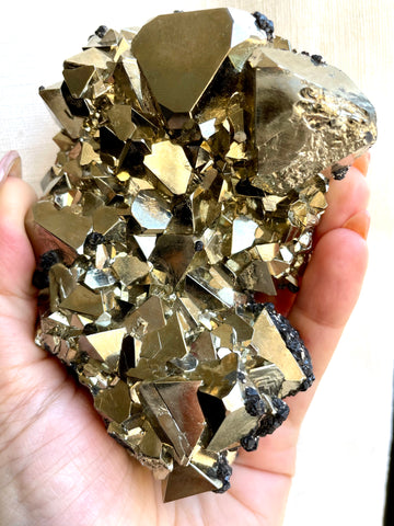 crystals-of-the-climate-pyrite-crystal-quartz-and-canary