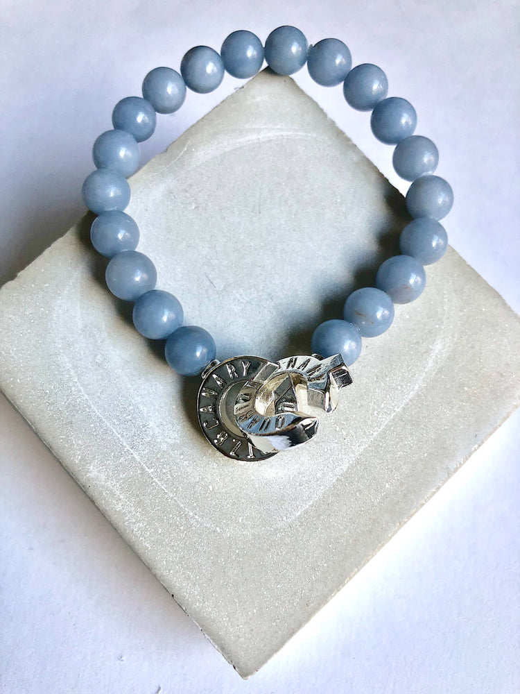 Silver - Angelite - S - Connected Bracelet