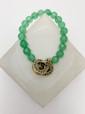 Load image into Gallery viewer, Brass - Aventurine - XS - Connected Bracelet