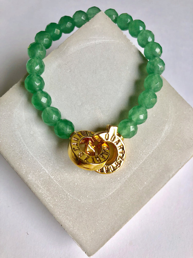 Gold - Aventurine - M - Connected Bracelet