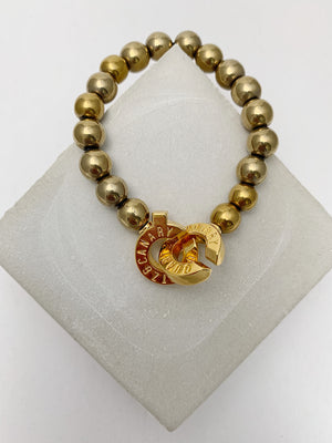 Load image into Gallery viewer, Gold - Gold Hematite - XS - Connected Bracelet
