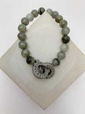 Pewter - Labradorite - S - Connected Bracelet