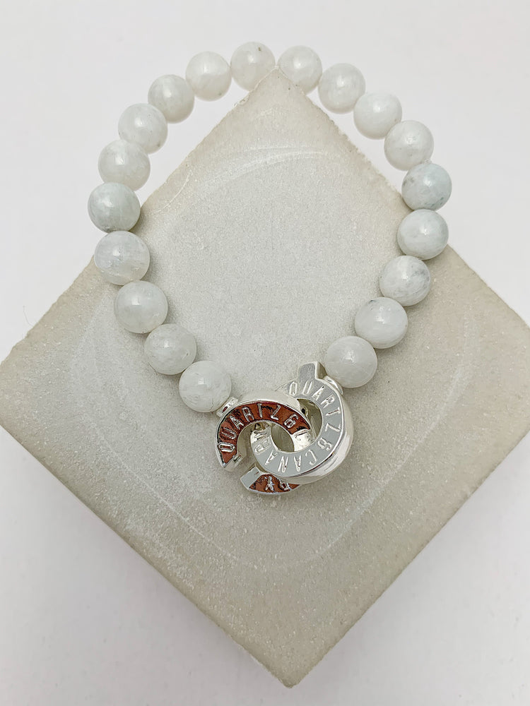 Load image into Gallery viewer, Silver - Moonstone - S - Connected Bracelet