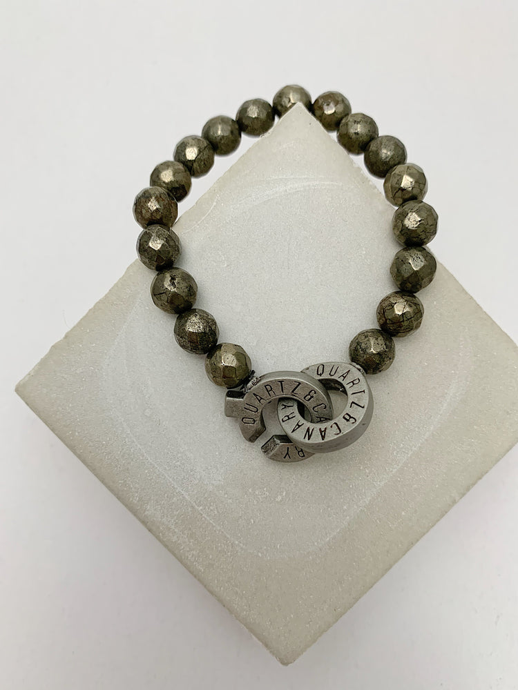 Pewter - Pyrite - S - Connected Bracelet