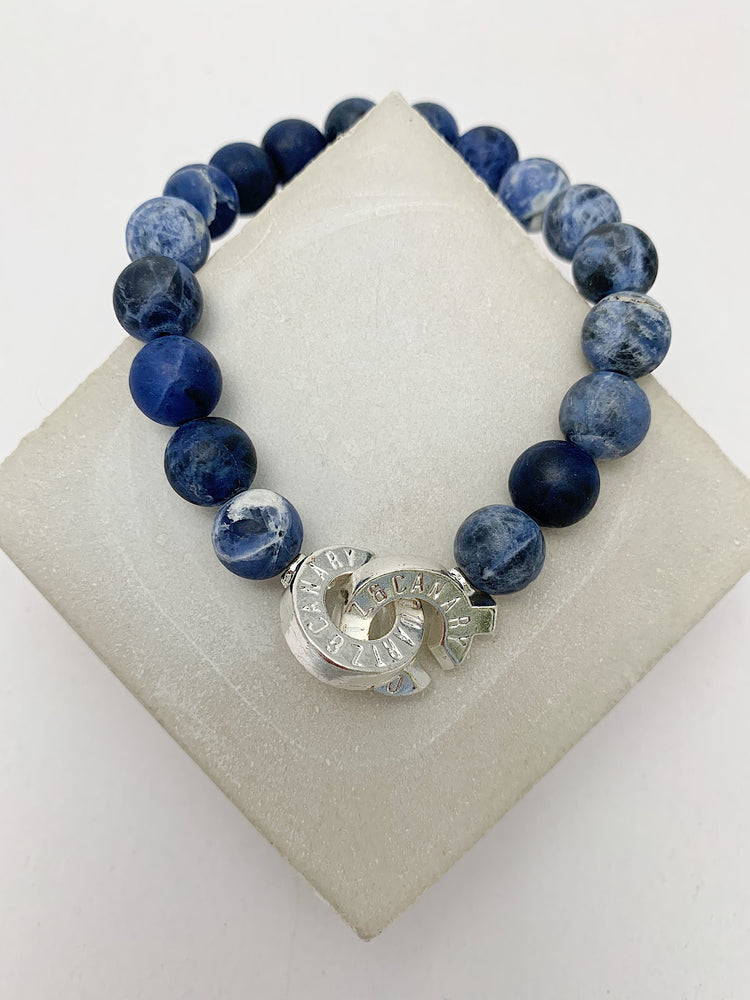 Silver - Sodalite - L - Connected Bracelet