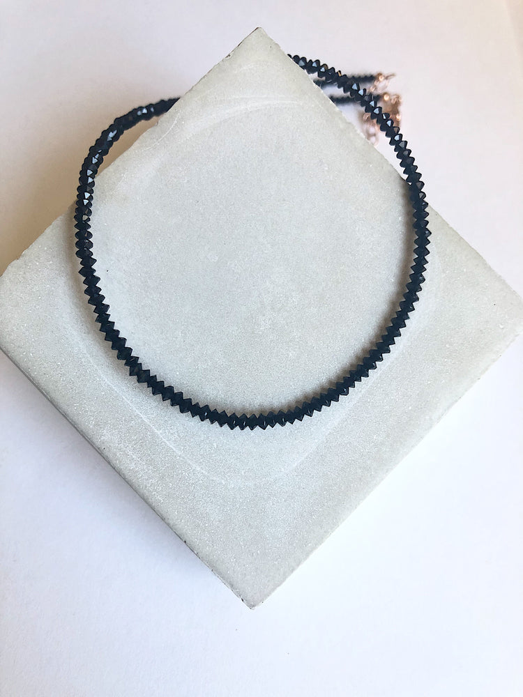 Bliss Microbead Chain Black Spinel
