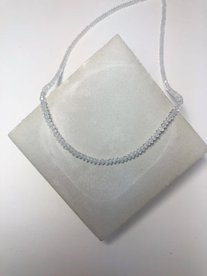 Load image into Gallery viewer, Bliss Microbead Chain White Topaz