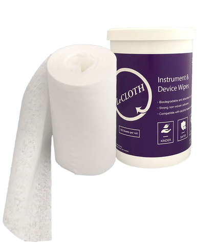 LeCloth Intro Kit (2 canisters & 8 x Lecloth rolls of 100 towlets) - Products 5L (1.32 Gallon) BioSurf Surface Disinfectant (ITEM OUT OF STOCK)