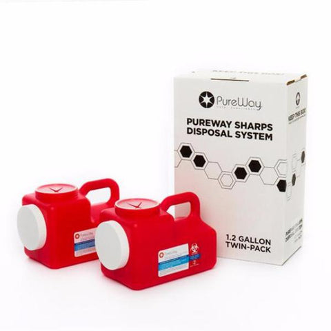 1.2 Gallon Sharps Disposal System (2 Pack)
