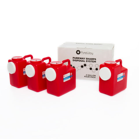 2 Gallon Sharps Disposal System (4 Pack)