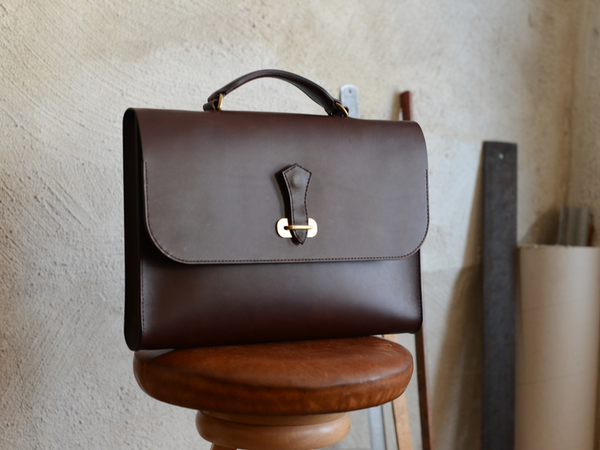 Slim Briefcase, Dark Brown