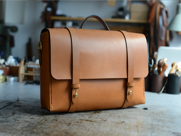 Men's Briefcase With Backpocket