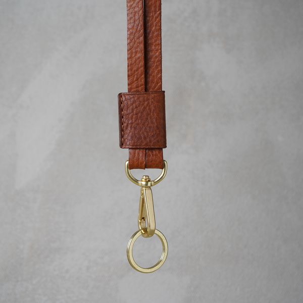 Key Hanger, Cognac and Brass