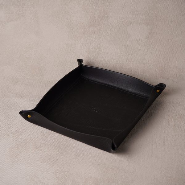 Large Valet Tray, Black
