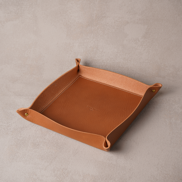 Large Valet Tray, Cognac