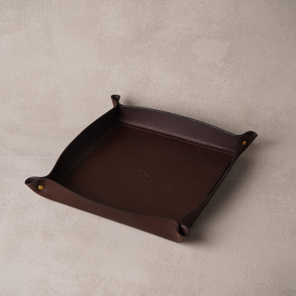 Large Valet Tray, Dark Brown