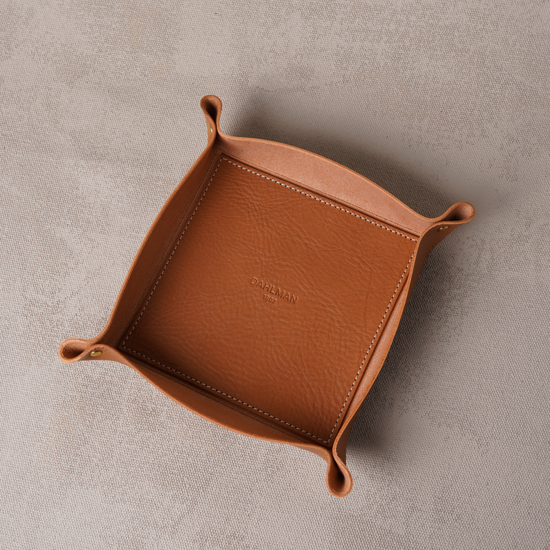 Small Valet Tray, Cognac