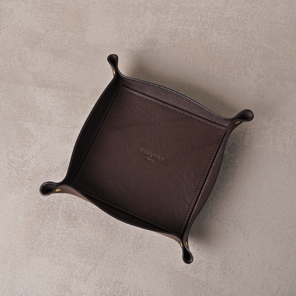 Small Valet Tray, Dark Brown